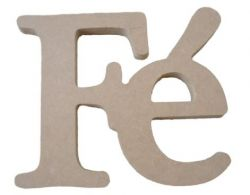 Palavra Decorativa Fé - Medida: 15,6 cmx 13,5cm x 15mm