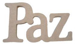 Palavra Decorativa Paz - Medida: 22cmx 13,5cm x 15mm
