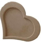 Moldura Coração Médio - Medida: 32,5cmX28cmX15mm