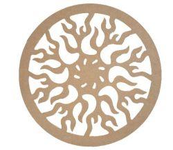 Mandala Fogo  Medida: 40,2cmX40,2cmX6mm