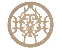 Mandala Floral Medida: 40,2cmX40,2cmX6mm