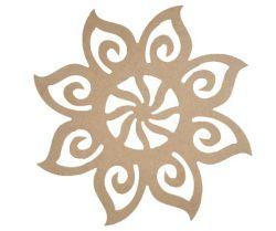 Mandala Floral Aberta Medida: 42cmX42cmX6mm