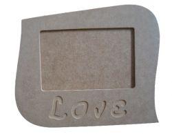 Porta Retrato Love - Medida: 22cmX18cmX9mm  -Para Fotos de 15cmX10cm