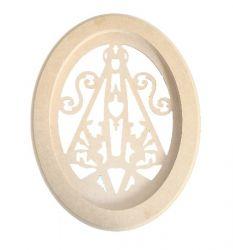 Moldura Oval Nossa Senhora Média -  Medida: 32,8cmX25cmX15mm