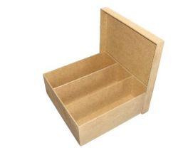 Caixa Mini Chandon 3 Lugares  - Medidas  22cm x22cmx8cm - 3mm