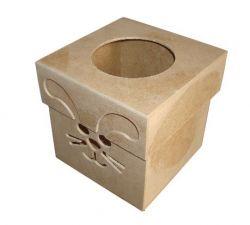 Caixa Coelho  Medida: 14,5cm x 14,5cm x 15cm - 3mm