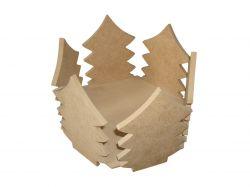 Porta Panetone Pinheiro 500 gr - Medidas: 18cmx18cmx13,5cm