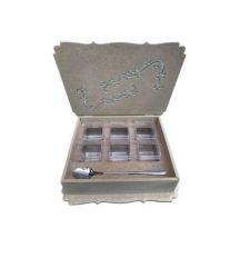 Caixa Para Gin P - Em Mdf Cru -   Medidas: 26cmx23cmx6,5cm.